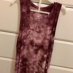 American Eagle Soft and Sexy tie dye tank top